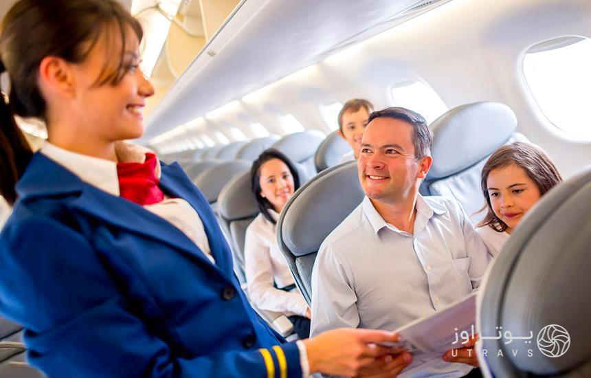 get help from flight attendants during the flight