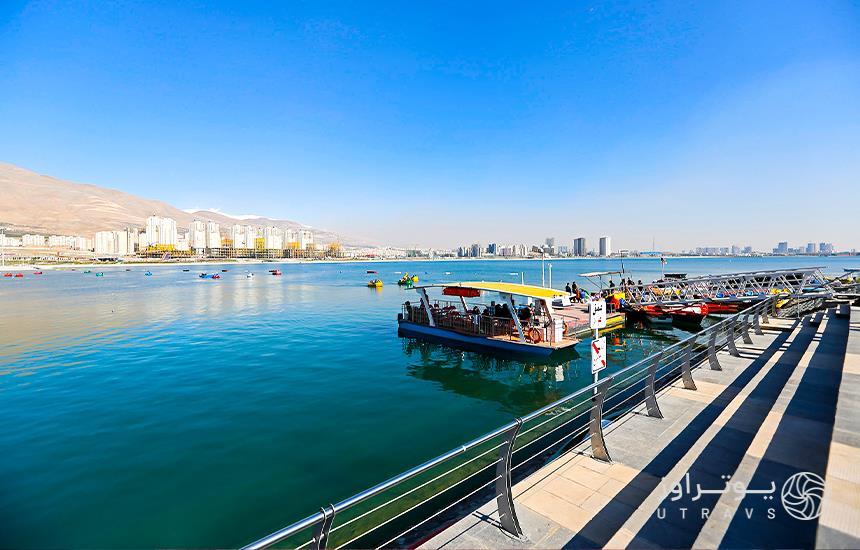 boat riding Chitgar Lake