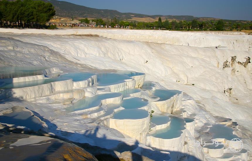 Pamukkale carbonate water springs
