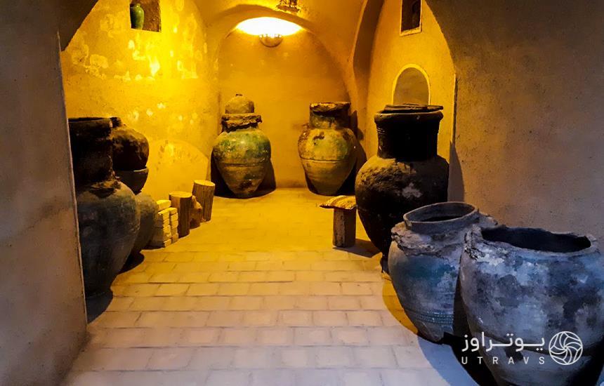 vat of oil in Assarkhaneh Shahi museum